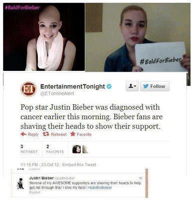 Justin Bieber have cancer ( NOT )